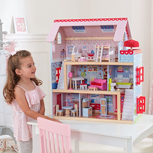 Kidkraft Rocking Bed (Adorable Interactive Doll House Cottage with Accessories Included)