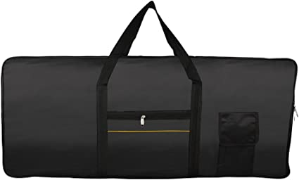 Electric Piano Carry Bag Oxford Portable 61 Key Keyboard Case Lightweight 10mm Padded Tote Gig Bag with Adjustable Backpack Straps and Extra Pockets for Dust-proof Transport Travel 15.7 x 39