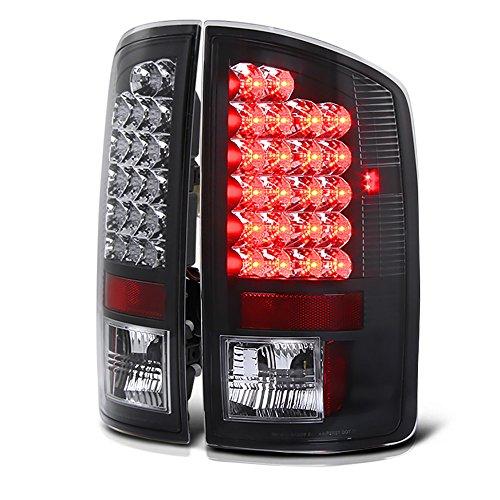VIPMOTOZ Black Bezel Premium LED Tail Light Housing Lamp Assembly For 2002-2006 Dodge RAM 1500 2500 3500 Pickup Truck Driver and Passenger Side Replacement (2005 Dodge Ram Pickup 1500 Srt 10)