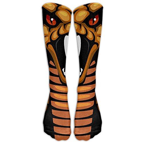 Anklet Soccer (SARA NELL Cool Cobra Snake Black Stockings Long Tube Socks, Great Quality Classics Knee High Socks Sports Socks Perfect Gifts For Women Men Teens Friends Family)