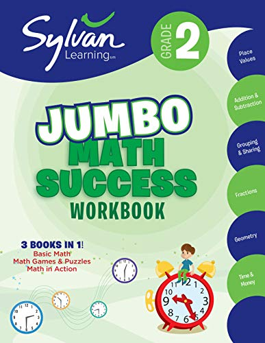 2nd Grade Jumbo Math Success Workbook: Activities, Exercises, and Tips to Help Catch Up, Keep Up, and Get Ahead (Sylvan Math Jumbo Workbooks)