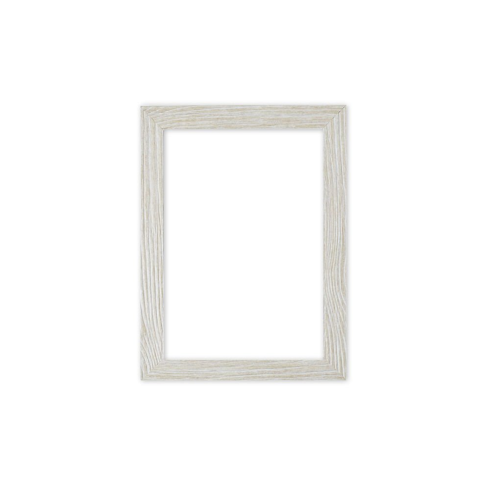 Memory Box Driftwood effetto piatto Sleek Sleek Sleek Picture photo poster Frame – modanatura 30 mm di larghezza e 16 mm di profondità – drftwd-px-rl-glsparent, bianca Distressed, 17  x 17  with Plastic Glass 400000