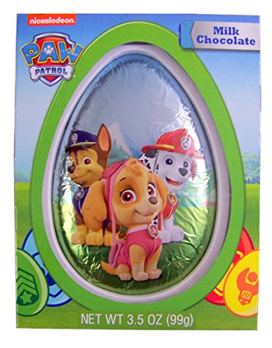 Nickelodeon Paw Patrol Solid Milk Chocolate Easter Egg, 3.5 oz - Paws Milk Chocolate
