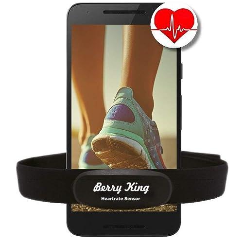 BerryKing Heartbeat Bluetooth & ANT+ ou Sportbeat pour Garmin Wahoo Polar RUNTASTIC STRAVA ENDOMONDO TomTom Apple iPhone Android Bracelet de sangle thoracique pour moniteur de fréquence cardiaque HRM Sensor