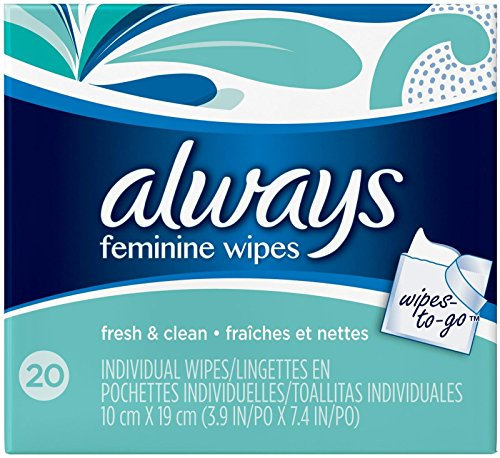 Always Lightly Scented Wipes-to-Go - 20 (Lightly Scented Wipes)