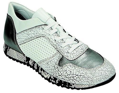 Donna Bianco grigio Stringate Scarpe Bianco Miccos q87EzxRw