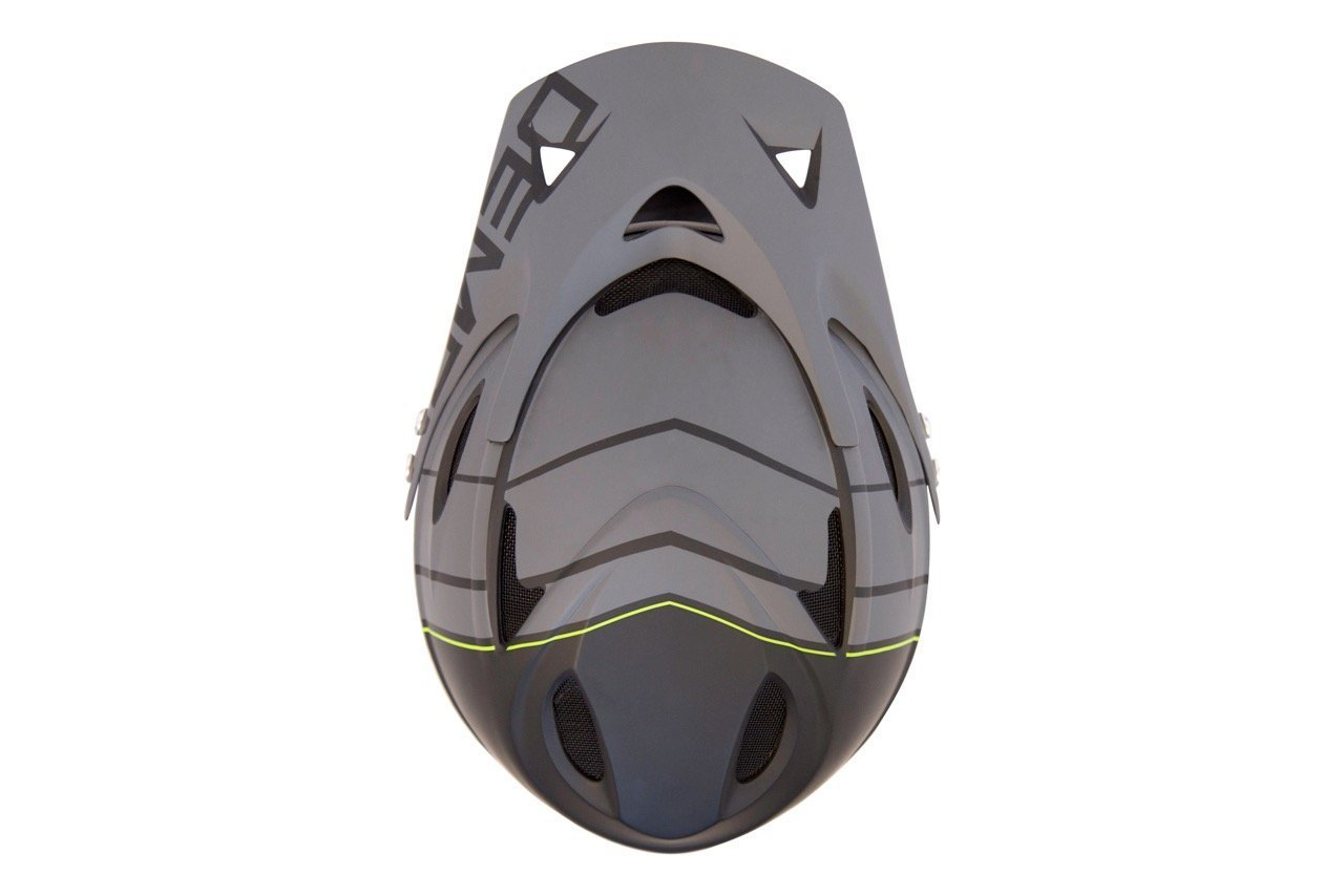Demon Podium Full Face Mountain Bike Helmet Black with Red Supra Goggle