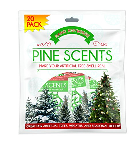Pine Scents Natural Pine Infused Cristmas Tree Ornaments, 20-Pack (Tree Cristmas)