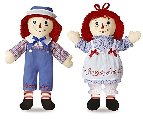 Aurora Bundle of 2 Dolls - 25'' Raggedy Ann and Raggedy Andy ()