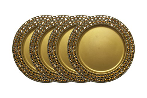 GiftBay Wedding Charger Plates Metal, 13