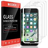 MASCHERI Screen Protector For iPhone 7 / iPhone 8, [3 Pack] Tempered Glass [Alignment Frame Easy Installation] Screen Protective for iPhone 7 / iPhone 8 Film - Clear