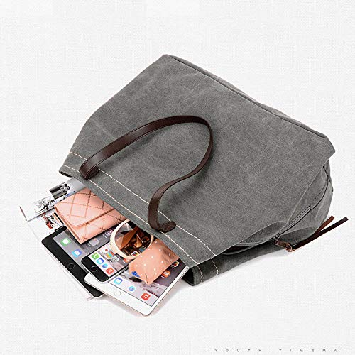 Canvas Tote Style Casual Handle Hobo Bag Bag KISS GOLD Shoulder Khaki TM Large Top qpnxIa1Ew