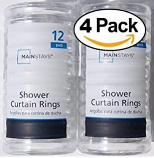 Amazon.com: Basic Plastic Shower Curtain Rings - Clear - 2 Pack ...