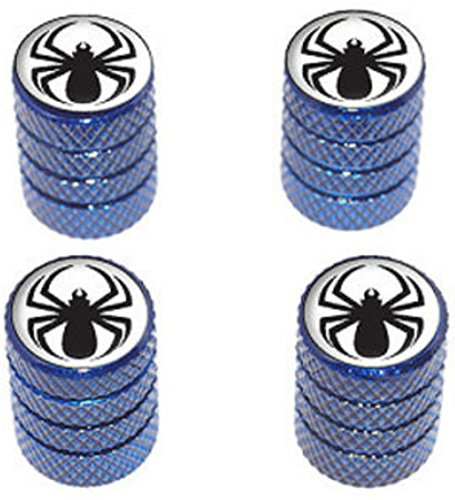 4-count-cool-and-custom-diamond-etching-black-spiderman-symbol-top-with-easy-grip-texture-tire-wheel