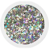 Dots ARGENT nail art 10 grs grosses paillettes manucure ongles gel uv french