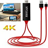 Compatible with iPhone iPad to HDMI Adapter Cable, 1080P Digital AV HDMI Adaptor Connector Cord for iPhone Xs Max XR X 8 7 6 Plus iPad Pro Air Mini iPod - Plug and Play