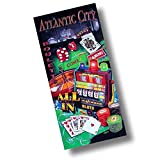 """Custom & Luxurious {30"""" x 60"""" Inch} 1 Single Large & Thin Soft Summer Beach & Bath Towels Made of Quick-Dry Cotton w/ Atlantic City New Jersey Casino Craps Roulette Poker Games Style [Multicolor]"""