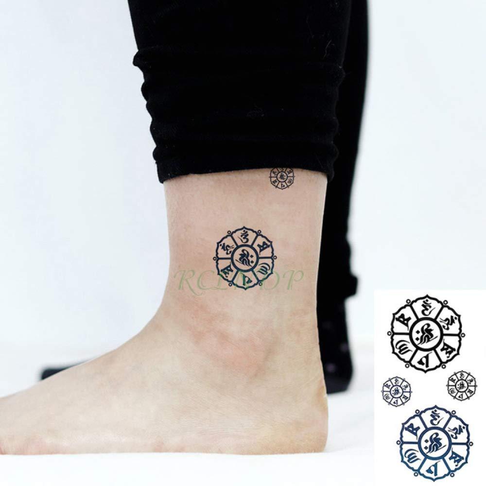 5pcs Impermeable Etiqueta engomada del Tatuaje Cruz Pescado Totem ...