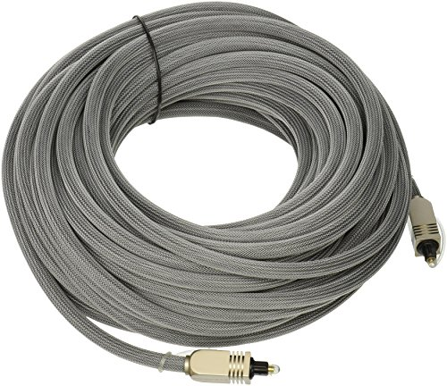 Monoprice 102767 50-Feet Premium Optical Toslink Cable with Metal Fancy Connector