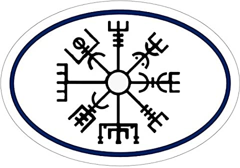 Viking Decal - HELM OF AWE Viking Compass Vinyl Sticker - Viking Bumper Sticker - Rune Sticker - Viking Gift - Made in the (Days Of Glory Daniel)