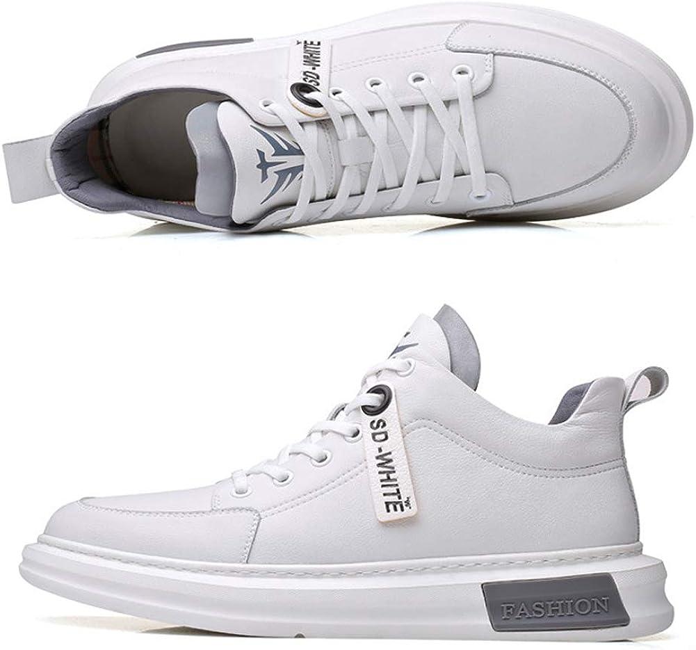 2020 Printemps Mode Sport Chaussures De Sport, Baskets À Lacets Pour Hommes, Chaussures De Marée D'étudiant White