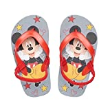 Disney Mickey Mouse Toddler Boys' Red Thong Flip Flop Sandals, Large(9-10)