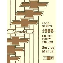 Amazon the g20 books fully illustrated 1986 chevrolet truck pickup repair shop service manual includes 4x2 4x4 ton ton 1 ton trucks blazer suburban fandeluxe Images