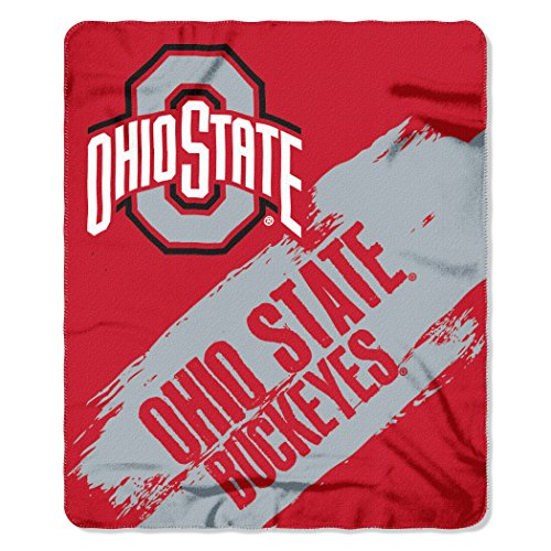 NCAA Ohio State Buckeyes Painted Printed Fleece Throw Blanket, 50