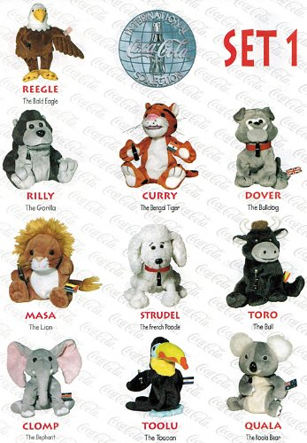 1 International Bean Bag Plush Collection (Set of 10 Bean Bags – New) (Beanie Babies Bean Bag Plush)