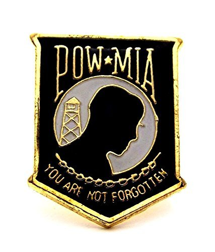 (POW MIA Shield Lapel Hat Pin Military Marines Army Air Force Navy PPM008)