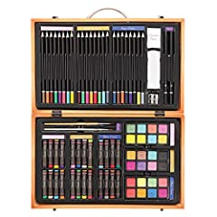 This 80-Piece Deluxe Art Set overflows with color and creativity! This art kit includes a wide variety of art supplies for drawing, painting and more - it's a great choice for beginners and serious artists alike. The kit includes a wide varie...