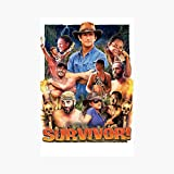 Brewsterty Survivor Epic Poster (16' x 24') Deluxe Portrait Canvas Wall Art Decoration Kitchen Office Decor