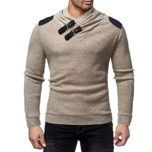 0c4d2c884aa APRAW Men s Slim Fit Sweater Pullover Long Sleeve Knitted Sweater with Heap  Collar