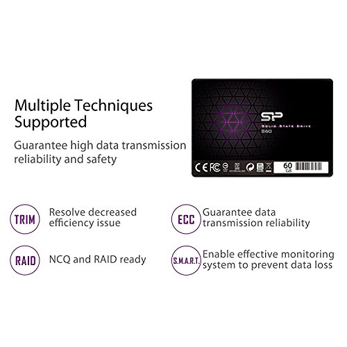 Silicon Power 60GB SSD S60 MLC High Endurance SATA III 2.5'' 7mm (0.28'') Internal Solid State Drive- Free-download SSD Health Monitor Tool Included (SP060GBSS3S60S25AE) by Silicon Power (Image #6)