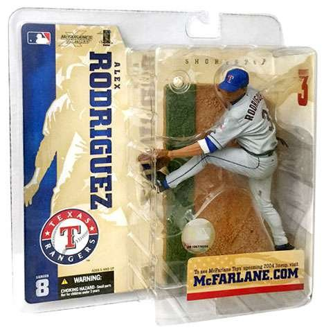 (McFarlane MLB Series 8 Alex Rodriguez Action Figure Texas Rangers Grey Chase Variant)