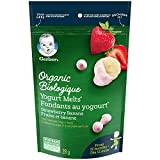 GERBER Organic Yogurt Melts Strawberry & Banana,Toddler Snacks, Melts, 12+ Months, 28 g, 7 Pack
