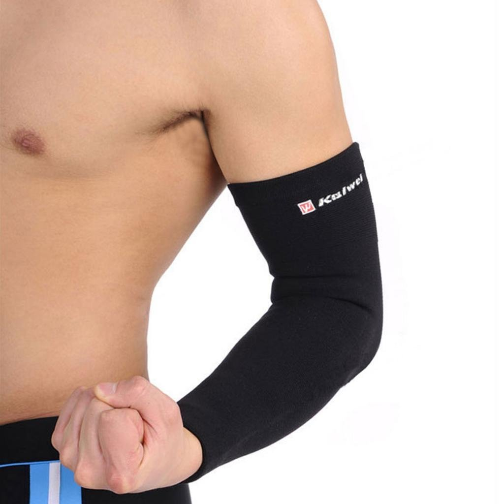 COOLOMG Arm Single Compression Wear Sleeve Muscles Elbow Brace Sport Sleeve Supports M