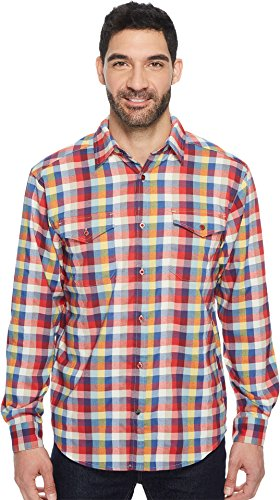 Mountain Khakis Men's Peaks Flannel Shirt, Bullseye Multi, (Bullseye Khaki)