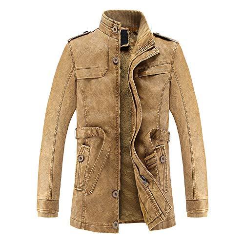 Thermique Hiver Hommes Casual Automne Coat Fashion Taottao Bouton Jaune Poche Veste Top txwO0qtSZ