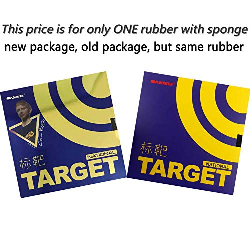 (Sanwei Target (National) Pips-in Table Tennis Rubber (Blue Sponge) (Black))