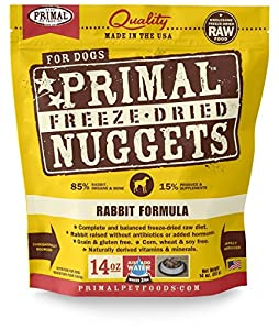 Primal Freeze Dried Dog Food - Rabbit formula - 14 oz.