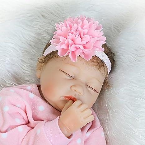 Bebé niña o niño de corta edad 4 de pulgada Candy Flor Rosa Grande Diadema