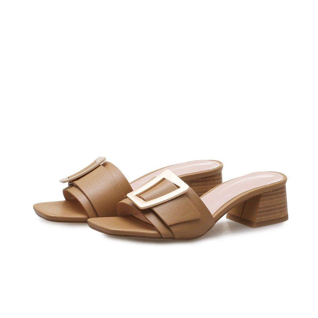 Damen Gürtel - Sandalen, Lässige Schuhe, Sandalen, Sandalen, Gürtel Damen Schlappen. Khaki fe2065