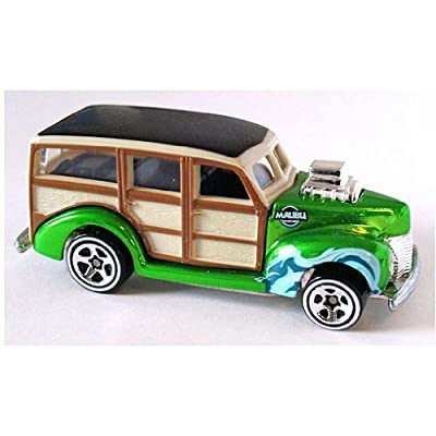 Hot Wheels Mattel Classics, Series 1, Special Paint, Limited Edition, Green 1940's Woodie. # 11 of 25.: Toys & Games
