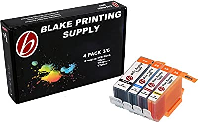 4 Pack Blake Printing Supply BCI3 Ink Cartridges for Canon FAX C855 Multipass F30 Multipass F50 F60 F80 Multipass MP700 Multipass MP730 S500 S520 S530D S600 S630 S630 Network S750 i550 i850