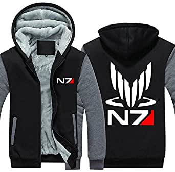 Mens Clothing N7 Jacket Fleece Hoodie Winter Sweatshirt Coat Cosplay Costume