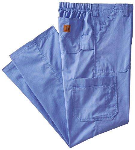 Carhartt Size Ripstop Men's Multi-Cargo Scrub Pant Tall, Ceil Blue, Medium