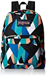 Jansport 25 Ltrs Stellar Blue Geo Floral School Backpack (JS00T50133S)