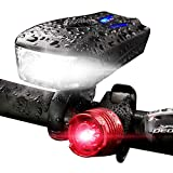 Cheap Bike Lights Front and Back Set Led Bicycle Headlight 400 Lumen 5 Modes 6H USB Rechargeable Free Rear Tail Light Road Cycling Flashlight for Outdoor