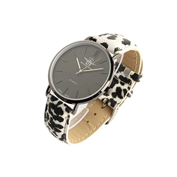 Reloj Negra Mujer Pulsera Pantera Fashion Baghy - Mujer: Amazon.es: Relojes